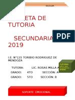 Carpeta Toe Secundaria 4to- Matriz 2019