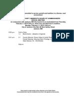 Commissioners Feb. 11 Agenda