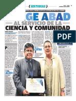 Jorge Abad Al Servicio de La Ciencia y La Comunidad