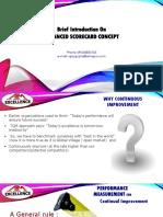 Brief Presentation on Balanced Scorecard Concept