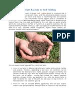 Important Factors in Soil Testing