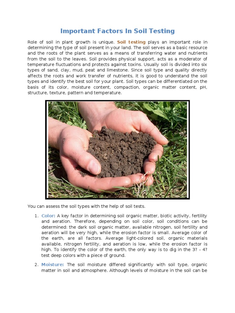 clay soil testing Soil considerations in pond construction bl harris selection of the location for a pond is of major clay can be layered over the soil and compacted.