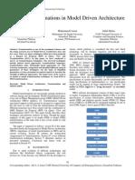 Model Transformations in Model Driven Architecture