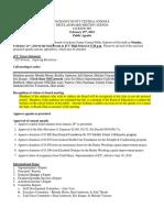 JCC Board Feb. 25 Agenda