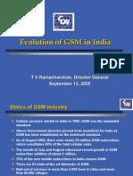COAI Prsentation-13 Sept 2005- Evolution of GSM in India