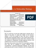 Introductory to Molecullar Biology