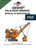 Manual Mantención 495HR