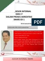Dr. Sutoto - Peran Asesor Internal Dan It Dalam Akreditasi Snars