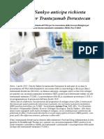 Daiichi Sankyo Anticipa Richiesta All FDA Per Trastuzumab Deruxtecan