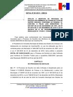 Edital das Eleições Unificadas Para o Conselho Tutelar de Casinhas 2019