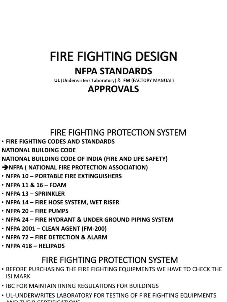 FIRE FIGHTING PPT pptx | Fire Sprinkler System | Firefighting