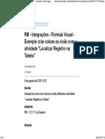 RM - Integrações - Fórmula Visual - Exemplo Criar Coluna Na Visão Com a Atividade Localizar Registro Na Tabela