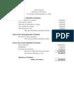 Cash Flows Sample