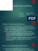Why We Study Financial Markets