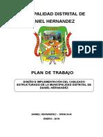 Plan de Trabajo cableado estructurado