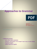 Approaches to Grammar