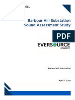 Barbour Hill Substation Sound Assessment Study