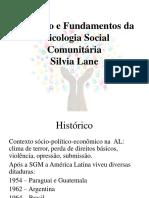 Histórico e Fundamentos Da Psicologia Social Comunitária