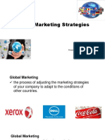 Group 5 - Global Marketing Strategies