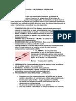 EL CAUTÍN Y FACTORES DE OPERACIÓN