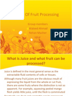 Study of Fruit Processing