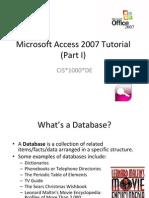 Access 2007 Tutorial 1