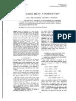 Fuzzy Control Theory