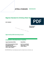 Nigerian Standard for Drinking Water Quality