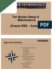 Tax Books Setup Maintenance