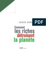 comment les riches detruisent la planete