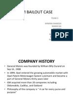 Gm Bailout Case