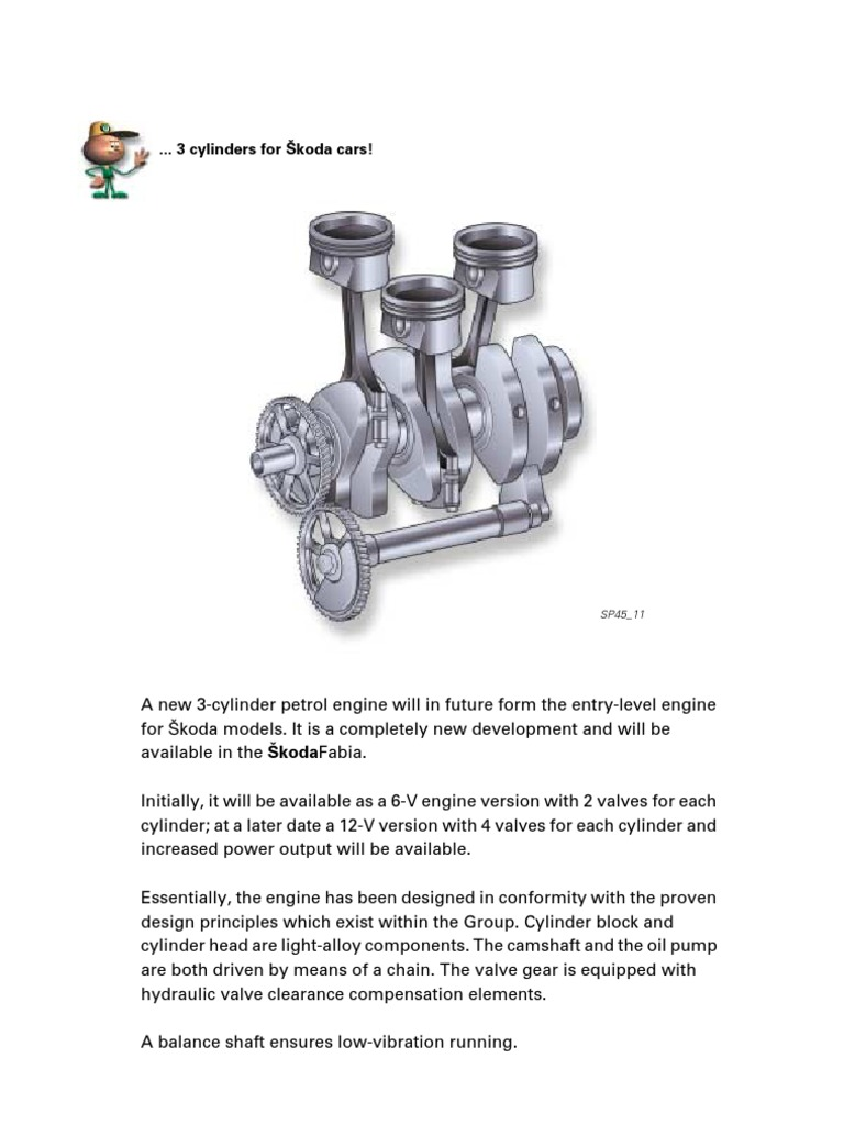 3 cylinders engines for Skoda cars (Engine code AWY & AZQ ...