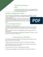 Functions of Gram Panchayat ,Zilla,Municipality