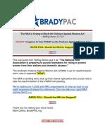 BradyPac - Today's Important Vote