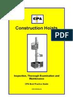 Construction Hoists Maintenance and Inspection