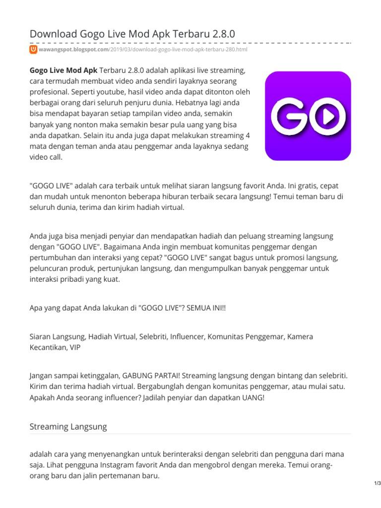 Download Gogo Live Mod Apk Terbaru
