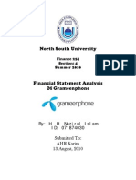 Financial Statement Analysis of Grameenphone