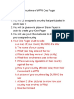 country one pager instructions