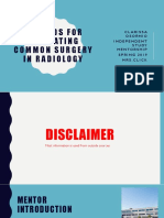 methods for evaluating common radiology 2