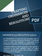 Crafting Ordinances & Resolutions