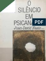 O silêncio em psicanálise Nasio