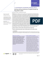 Enhancing Rutting Resistance of Asphalt Binder by Adding Plastic Waste
