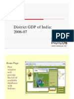 District GDP of India 2006-07