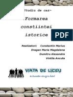 Studiu de Caz Formarea Constiintei Istorice