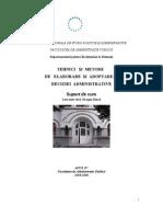Tehnici Si Metode de Elaborare Si Adoptarea Deciziei Administrative