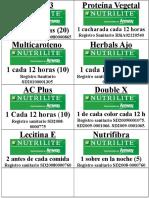 DETOX 3 Etiquetas