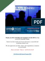 LRL Watch LEAD Summit X - Su Voto Es Su Voz Everyone Counts