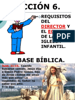 Lelccion 6. Requisitos y Caracteristicas Del Director.