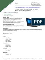 Yoytec Computer S.a.-hoja de Caracteristicas-Dell Inspiron 14 3467 - Intel Core i5-7200U a 2.50GHz LCD 14 HD 8GB DDR4 1TB Bluetooth Webcam HDMI USB DVDRW Windows 10 Home 64-Bits Espaol Negro