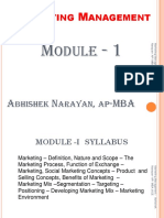 Abhishek Marketing Management Module 1